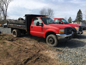 1999 FORD F550 7.3 power stoke 6SPD  WITH DUMP BOX 2995$