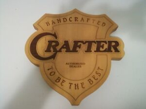 Crafter plaque