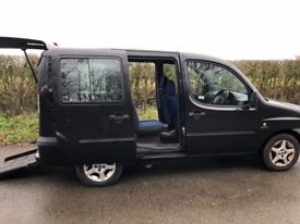 fiat doblo dynamic 1.3 wheelchair conversion only 40,000 miles
