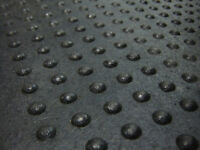 Dome-Topped Rubber Flooring