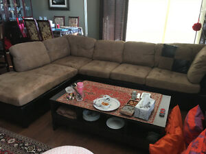 Very clean and nice sectional sofa brown