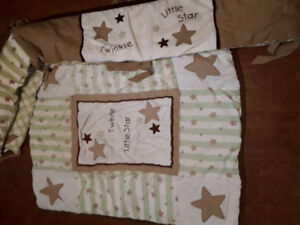 Twinkle Little Star Bumper Pad and Blanket