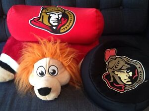 Three Ottawa Senators Pillows