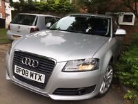 NEWER MODEL - 2008 AUDI A3 1.6 MPI - NEW MOT - 46K MILES golf astra 120d 116i 1 series