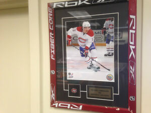 Cadre Hockey Mike Cammalleri Michael Canadien Montreal poster