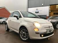 2008/08 Fiat 500 1.4 SPORT Bossa Nova White HUGE SPEC + 6 SPEED + S/HISTORY