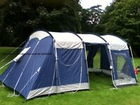Pro Action large family tent with separate sleeping areas and large living areas