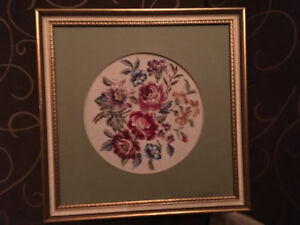 Beautiful Embroidery Picture Frame Flowers