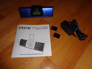 HARDLY USED - IHome Docking Station, Speakers and Clock