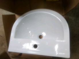 Sink and pedestal brand new boxed