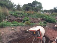 Labourer footings digging labour