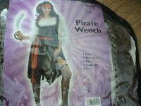 Pirate wench costume adult size medium