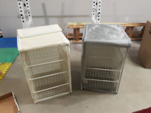 IKEA metal wire mesh storage drawers with cover