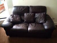 Dark brown Sofa and Armchair set