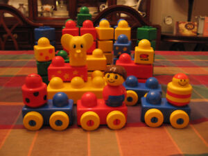 62 Pieces of Duplo Pego Primo Stack N'Learn Building Blocks