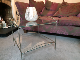 Glass coffee/occasional table