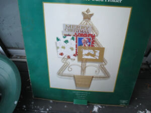 Christmas card holder in the shape of a Christmas tree