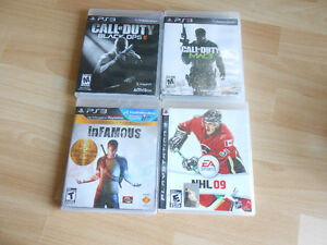 PS3 games, Black Ops 2, MW3, NHL09, Infamous Collection