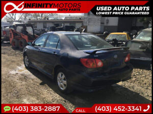 2005 TOYOTA COROLLA FOR PARTS PARTING OUT CARS CAR PARTS