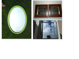 Modern Mirrors - Large Oval, Small Square