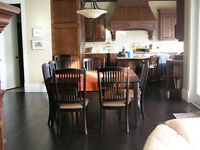 Wood table and 8 chairs