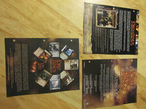 LOTR Lord of the Rings Decipher CCG Card Game Sell Sheets