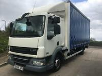 2008 58 DAF LF 45.160 Euro 5 sleeper cab 20ft curtainsider underslung tail-lift