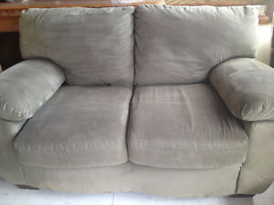 love seat and couch set