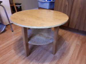 "Round coffee table 28"" wide 20.5"" high"