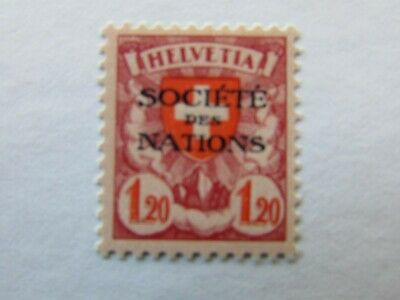 SWITZERLAND LEAGUE OF NATIONS OFFICIALS SCOTT 2032 GRILLED MH