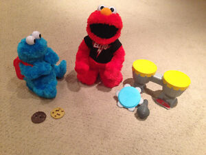 Rock and Roll Elmo and Count and Crunch Cookie Monster