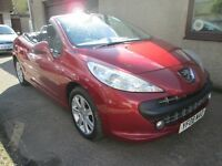 Peugeot 207 1.6 16V 120 SPORT COUPE CABRIOLET - ONLY 62730 MILES - (red) 2008