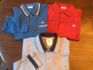 Lacoste Mens Polo Shirts . 7 shirts