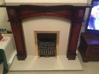Fireplace with Granite Hearth and Gas Fire