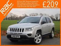 2011 Jeep Compass 2.2 CRD Turbo Diesel Limited Ltd 6 Speed 4x4 4WD Full Leather