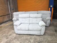 SCS Destiny curved sofa and 2 seater all reclining ex display model