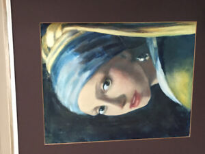 "Oil painting after Vermeer ""Girl with a pearl earring """