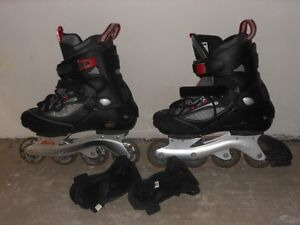 Roller Blades and Wrist Guards