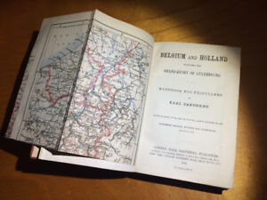 Pre WWI Baedekers BELGIUM / HOLLAND travel guide published 1910