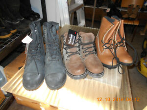NEW MEN'S SIZE 8.5 SAFETY CSA STEEL TOE WORK BOOTS $60 each