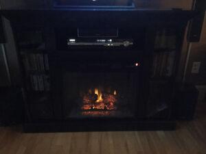 Foyer électrique Classic Flame de 23''  et meuble TV audio vidéo
