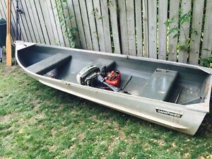 Game fisher 12 foot boat with 5hp motor included