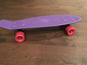 PURPLE PENNY SKATEBOARD -GOOD CONDITION!
