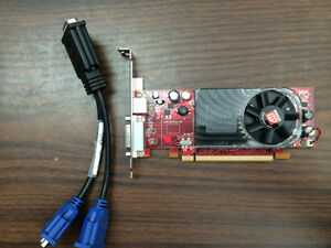 Dual monitor ATI Radeon Graphics Card  HD2400xt and cable.