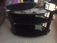 Black glass tv cabinet CAN DELIVER