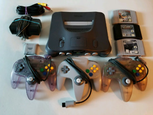Nintendo 64 Bundle with 3 Controllers and 3 Games