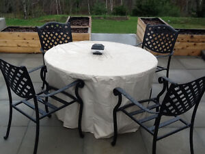 Patio Fire table & chairs set