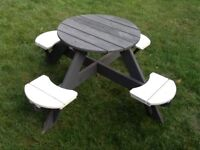 Children's Garden Table/ Chair Set (check junk email for response to messages)