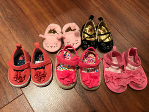 Lot of baby girl shoes / sandals