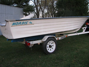 1997 Nordic 14ft boat Northtrail trailer 9.9 Yamaha possibly Kingston Kingston Area image 1
